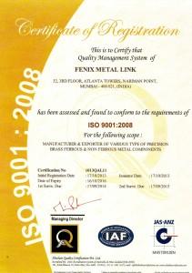 Fenix Metal Link ISO 9001 2008